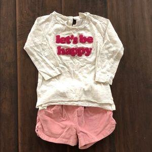 Zara baby girl matching set